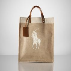 Charming 'Big Pony' Ralph Lauren tote.