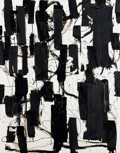 Patrick Heron painting | 'Black and White' 1956