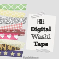 A Typical English Home: Patterned Digital Washi Tape
