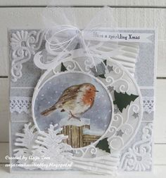 Handmade Christmas card by DT member Anja with Creatables Tiny& Pinecone and Christmas Ornament from Marianne Design Christmas Cards 2018, Christmas Card Crafts, Christmas Graphics, Christmas Scrapbook, Christmas Tag, Xmas Cards, Handmade Christmas, Christmas Ornaments, Marianne Design Cards