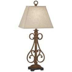 Uttermost Iron Scroll Table Lamp - #2D710   LampsPlus.com..clearance too $119