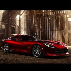 The New Viper in a light filled barn! What a picture!