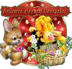 HÚSVÉTIIDÉZETEK VERSEK.KÉPEK Happy Easter, Animated Gif, Teddy Bear, Animation, Toys, Google, Figurative, Vintage Christmas Cards, Happy Easter Day
