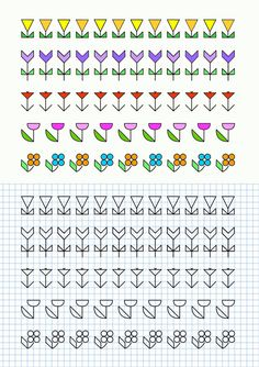 cornicette_fiori1.gif (826×1169) Cross Stitch Borders, Cross Stitching, Cross Stitch Patterns, Graph Paper Drawings, Graph Paper Art, Blackwork Patterns, Blackwork Embroidery, Small Canvas Art, Pixel Art