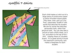 Unique Monique and Graffiti T-Shirts ~ Valuing individuality in your classroom. $