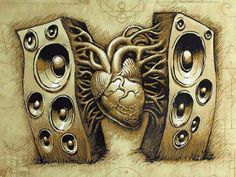 Heart Music Art Images Wallpaper HD Desktop Mobile Wallpaper Res: Added on March 21 Tagged : Wallpaper at MoshLab Wallpaper Music Tattoos, New Tattoos, Tatoos, Music Beats, Dj Music, Music Drawings, Geniale Tattoos, Music Wallpaper, Tattoo Ideas