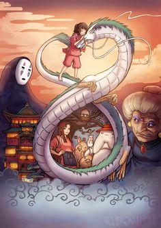 """Generación GHIBLI: 10 """"Fan Art"""" de 'El viaje de Chihiro' que no olvidarás"""