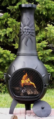 Chiminea On Pinterest Clay Roosters And Outdoor Fireplaces