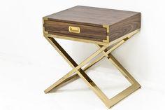 5. Jet Setter X-Base Side Table in Walnut, $796