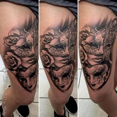 30 Most Beautiful And Mysterious Venetian Mask Tattoos