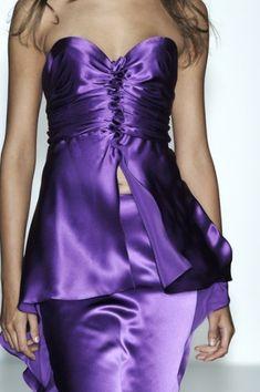 Shared via Flipboard Strapless Dress Formal, Formal Dresses, All Things Purple, Pastel Yellow, Purple Backgrounds, Floral Crown, Purple Dress, Deep Purple, Green Colors