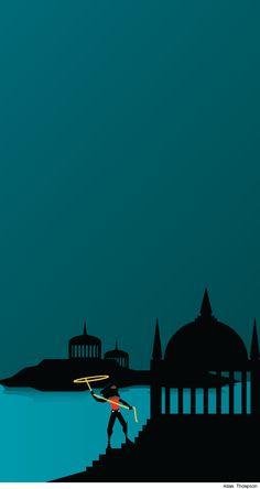 Adam Thompson's minimalist Themiscyra poster,