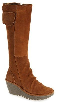 Shop Now - >  https://api.shopstyle.com/action/apiVisitRetailer?id=539733794&pid=uid6996-25233114-59 Women's Fly London 'Yulo' Knee High Wedge Platform Boot  ...