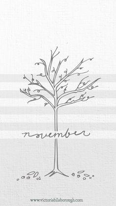 November & Thanksgiving iPhone Wallpapers at www.victoriabilsborough.com/blog
