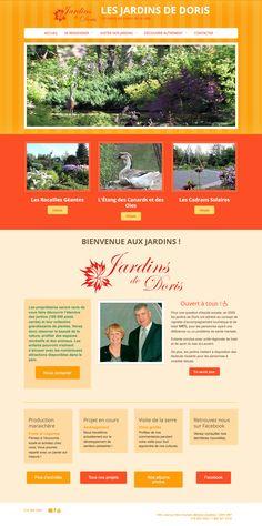 Les Jardins de Doris • Tourisme • Matane | Réalisé avec Mon site Primo, solution pour créer son propre site Web