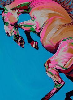 Yaheya Pasha - Horses painting