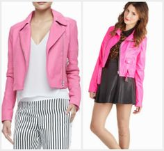 J Brand Pink Moto Jacket | Fave Fashion | Pinterest | Pink, J ...