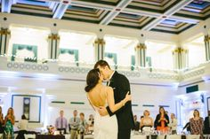 Soldiers & Sailors Memorial Hall & Museum | Pittsburgh Wedding Venue | Wedding Reception | Grand Ballroom | April Wedding | Misty and Matt | Purple and champagne wedding | Caitlin Thomas Photography | Gray Phoenix Design uplighting | Flowerama Centerpieces | Opening Night Catering