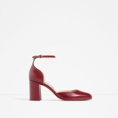 ZARA - COLLECTION AW16 - MID HEEL LEATHER SHOES WITH ANKLE STRAP
