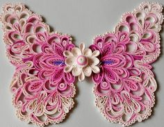 Pink butterfly using quilling Quilling Butterfly, Quilling Paper Craft, Quilling Craft, Paper Butterflies, Quilling Patterns, Quilling Designs, Pink Butterfly, Paper Crafts, Diy And Crafts