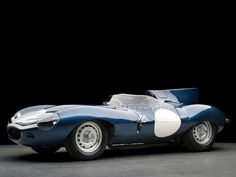 1955 Jaguar D-Type, a former factory team car of Silverstone and Nürburgring 1000km heritage and was used for some of Jaguars earliest fuel injection testing.