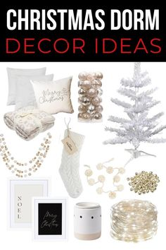 If you're moving into college this year and want to make your dorm feel a little more festive you definitely need to see this super cute Christmas dorm decor ideas!!! #Christmasdorm #dormdecor Outdoor Christmas Decorations, Dorm Decorations, College Dorm Rooms, Easy Diy Projects, Christmas Fun, Apartment Christmas, Merry, Room Decor, Make It Yourself