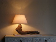 Driftwood lampUnique natural driftwood lamp by TassoStudio on Etsy