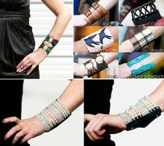 Pulseiras e braceletes com carteira embutida.