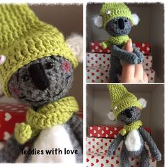 Teddies with love Crochet Teddy, Crochet Hats, Inspiration, Amigurumi, Crocheted Hats, Biblical Inspiration, Inhalation, Motivation