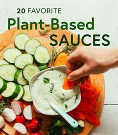 20 Favorite Plant-Based Sauces Who else thinks sauces make the dish? We've compiled 20 of our favorite plant-based sauce recipes to add incredible flavor to every meal. Plant Based Diet Meals, Plant Based Meal Planning, Vegan Recipes Plant Based, Plant Based Whole Foods, Plant Based Eating, Plant Based Snacks, Plant Based Dinner Recipes, Plant Diet, Vegan Sauces