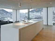 A MINERGIE house with the highest certification in Switzerland's Rhonetal valley Home, House, Kitchen, Kitchen Island, Areas, Aptos