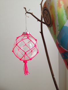 neon christmas bauble decoration by PipniHandmade on Etsy, $12.00