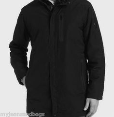 TUMI T-TECH Jacket Size XXL Black Micro Tech Jacket with Stowaway Hood
