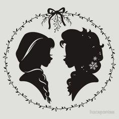 Elsa and Anna Silhouette // Disney                                                                                                                                                     More