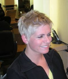 This very short pixie haircut looks cool and stylish with lovely highlights. Description from gvenny.com. I searched for this on bing.com/images