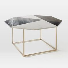 Marquetry Marble Coffee Table | west elm UK