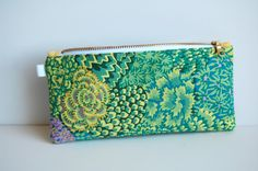 Multi Purpose Stash Pouch, Privacy Pouch, Slim Style Profile For Holding DPN's, Art Pencils, Money, Credit Cards, etc. THE ELLA by BPoppiesHandmade on Etsy