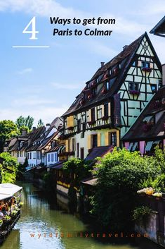 How to get from Paris to Colmar. Colmar from Paris is as little as 3 hours away by train and plane, Visit Colmar Christmas market in a day.    Train to colmar, Bus to colmar, Plane to Colmar, Drive to Colmar,  Alsace France. Strasbourg France, Colmar France, visit Colmar, via @wyldfamtravel