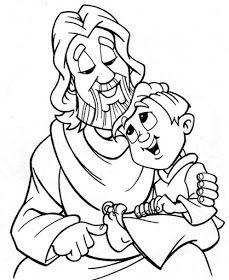 Para Colorear Jesus Con Los Ninos Para Colorear Dibujos Jesus Para Colorear Manualidades De La Biblia Para Ninos
