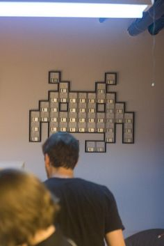 Space Invaders Floppy Disk Art, via Flickr.