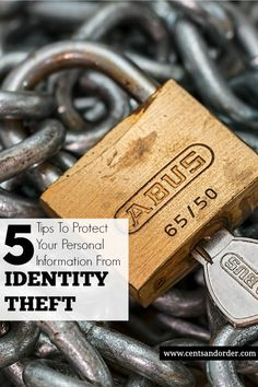 Identity theft can happen to anyone. These 5 tips will help you keep your personal information safe. | Cents and Order