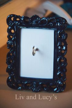 DIY ring and bracelet holder  Navy floral ornate ring holder