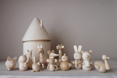 Montessori baby toys Animals by CraftPaperWoodShop on Etsy Toddler Toys, Kids Toys, Toddler Stuff, Welcome To Instagram, Wooden Educational Toys, Montessori Baby Toys, Wooden Tree, Wooden House, Wooden Animals