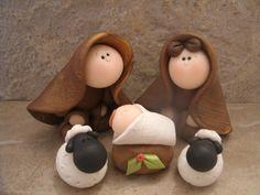 Nativity Set 5 piece. 17.95, via Etsy.