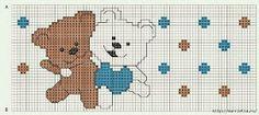 ♥Meus Gráficos De Ponto Cruz♥: Coelhos e Ursos em Jogos de Berço (Ponto Cruz)