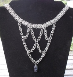 nck141 #Byzantine Cascade #Necklace in Stainless Steel $60.00 via #Storenvy  #handmade #chainmaille #jewelry #sca #fashion #style