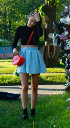 Your Outfit Today » Crop top on highwaisted skirt, September 16 2014