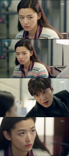 Jeon Ji-hyeon and Lee Min-ho were sweet. On the tenth episode of the SBS drama 'The Legend of the Blue Sea', Sim Cheong (Jeon Ji-hyeon) was sweet to Heo Joon-jae (Lee Min-ho).