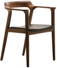 Nuevoliving Caitlan Leather Dining Chair