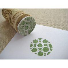 printing using eraser and cork
